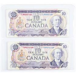 Lot (2) Bank of CANADA 1971 10.00 L/B