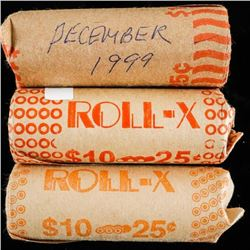 Group of (3) 25 Cent Rolls - 1999, 2000, 2001  - 120 Coins