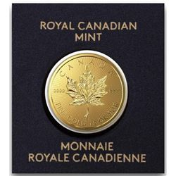 RCM .9999 Fine Pure 24kt Gold 50c Maple Leaf  - Coin Serialized