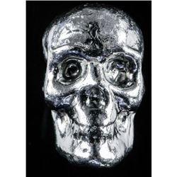 Collector Bullion .999 Fine Pure Poured  Silver Skull 1oz ASW
