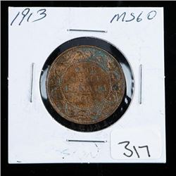 1913 Canada Large Cent MS60