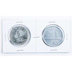 1951 Canada Silver Dollar, Plus 1951 Large  Aluminum Nickel