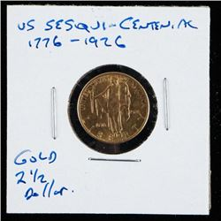 USA SESQUI Cent 1776-1926 2 1/2 Dollar Gold  Coin