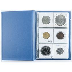Coin Stock Book with 18 Coins