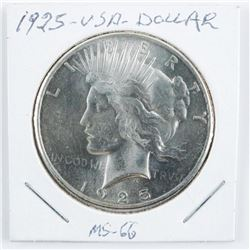1925 USA Silver Peace Dollar MS-66 (KER)