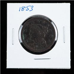 1853 USA Large Cent EF