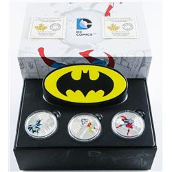 RCM DC Comics 3 Coin Set 2016 .9999 Fine  Silver $20.00 Coin with Glow in the Dark  Display 'Man of