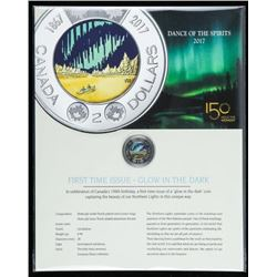 Dance of the Spirits 2017 First Time Issue  Glow in the Dark 2.00 Coin on Display