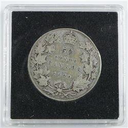 1920 Silver Canada 50 Cent