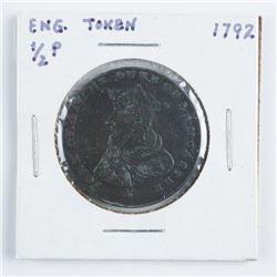 England 1792 Half Penny Token