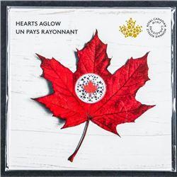 RCM Hearts Aglow .999 Fine Silver $5.00 Coin  Gift Folio