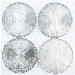 Group of (4) USA .9999 Fine Silver Eagle  Dollars