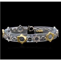 0.70 ctw Diamond Bracelet - 14KT Two-Tone Gold