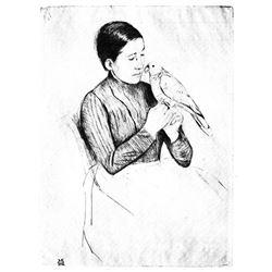 Mary Cassatt - The Parrot