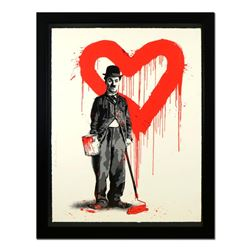 "Mr. Brainwash, ""Chaplin (Red)"" Framed Limited Edition Silk Screen. Hand Signed a"