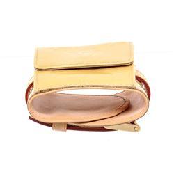 Louis Vuitton Beige Vernis Leather Lafayette Street Coin Purse Bracelet