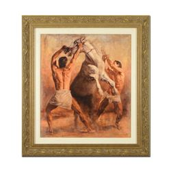 """Tomasz Rut, """"Perfuro"""" Framed Limited Edition on Canvas (39.5"""" x 43""""), Numbered I"""