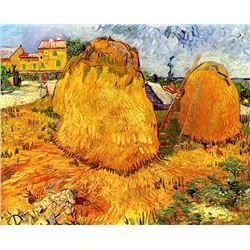 Van Gogh - Haystacks In Provence 2
