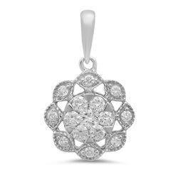 14k Gold 0.33CTW Diamond Pendant, (I1-I2/H-I)