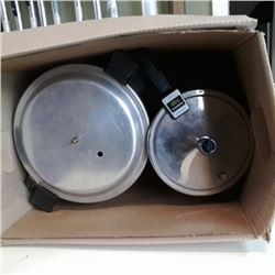 2 stainless pressure cookers