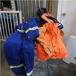 New welding jacket large high vis coveralls and four bags
