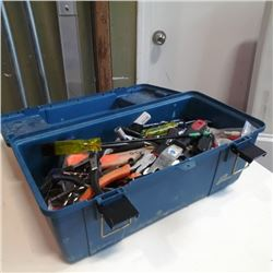 Blue toolbox with contents