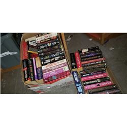 BOX AND TRAY OF NOVELS