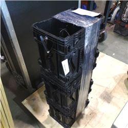 3 black wine crates