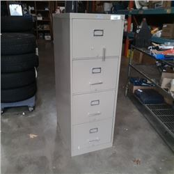 COMMODORE METAL 4 DRAWER FILING CABINET