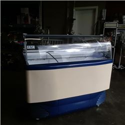 Large ISA commercial ice cream cooler working