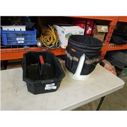 TOOL BUCKET WITH TOOL POUCH AND TOTE