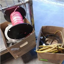BOX OF WIRE AND HOSE