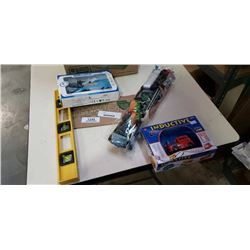 BOX OF RC HELICOPTER, LEVEL KITE AND TRUCK
