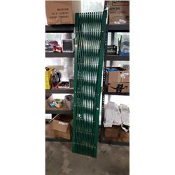 METAL SECURITY GATE - APPROX 78 INCHES ACROSS OPEN, APPROX 77 INCHES TALL