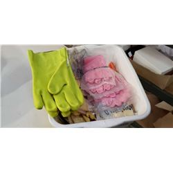 Box of new rubber gloves