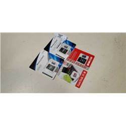 4 NEW MICRO SD CARDS WITH ADAPTER 2-256GB AND 2-16GB