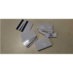 LOT OF BLANK MAGNETIC STRIPE CARDS