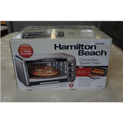 AS NEW HAMILTON BEACH STAINLESS TOASTER OVEN - WORKING