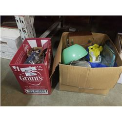 2 boxes of glasslock, lightbulbs and more