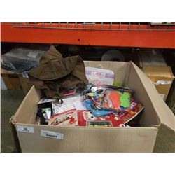 LARGE BOX OF NEW ITEMS - KIDS TOYS, ETC
