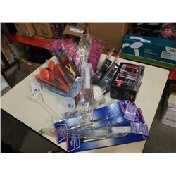 Lot of new staplers, whisk flippers, ladles tongs and more