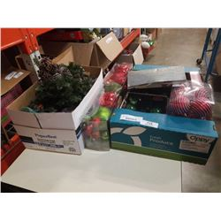 2 BOXES OF CHRISTMAS DECOR