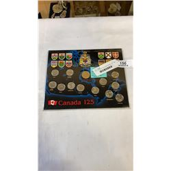 """1992 CANADIAN 125TH ANNIVERSARY COIN SET """"CANADA 125"""""""