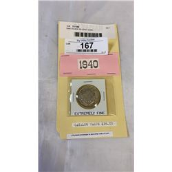 1940 SILVER 50 CENT COIN