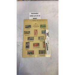 Barbados set of 12 Mint stamps