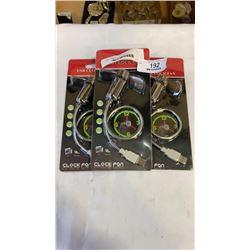 3 NEW USB LED CLOCK FANS