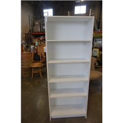 WHITE BOOKSHELF - APPROX 69 INCHES TALL