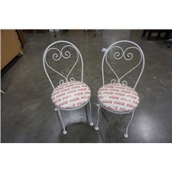 PAIR OF COCA COLA CHAIRS