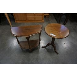 FRENCH PROVINCIAL D TABLE AND SMALL PARLOUR TABLE