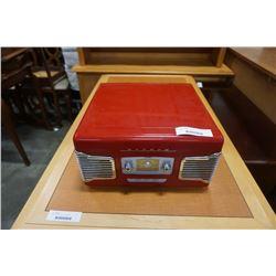 RETRO STYLE TEAC RECORD PLAYER RADIO
